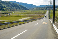 Downhill straight roadway Royalty Free Stock Images