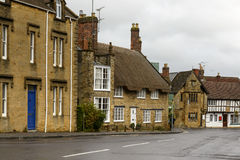 Downhill street at Sherborne, Dorset Stock Photos