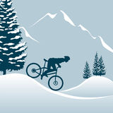 Downhill in Winter Stock Photos