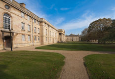 Downing College, Cambridge University. View towards the Chapel and East Range of Downing College, Cambridge University in early autmn Royalty Free Stock Photo
