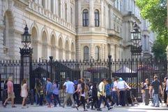 Downing Street 10 Λονδίνο Στοκ Φωτογραφία