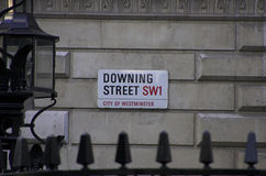 Downing Street. London. Home of the british Prime Minister Royalty Free Stock Photos