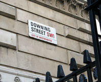 Downing Street Fotografia de Stock Royalty Free