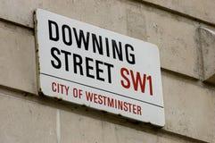 Downing Street Lizenzfreie Stockfotografie