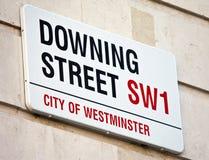 Downing Street en Londres Foto de archivo libre de regalías