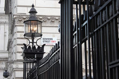 Downing Street. An entrace to the Downing Street Stock Image