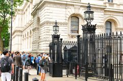 10 Downing Street i London Arkivfoto