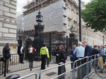 Downing Street i London Arkivbilder