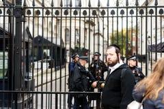 Downing Street judío del turista 10 Imagen de archivo