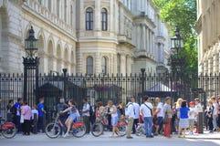 Downing Street 10 Londen Stock Afbeeldingen