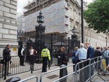 Downing Street in Londen Stock Afbeeldingen