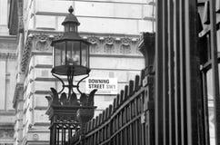 Downing Street, Londen, het UK Royalty-vrije Stock Foto's