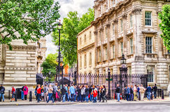 Downing Street London, UK Royaltyfri Foto