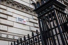 Downing Street Londra Fotografia Stock