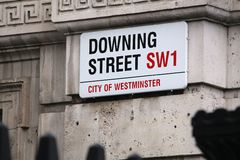 Downing Street, Londres Foto de Stock Royalty Free