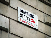 Downing Street road sign Royalty Free Stock Photo