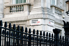 Downing Street's sign in Westminster Royalty Free Stock Photography