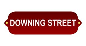 Downing street sign. Isolated on white background Royalty Free Stock Photos