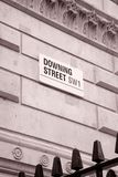 Downing Street Sign, London Stock Photos