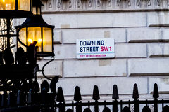 Downing Street street sign,London Royalty Free Stock Photography