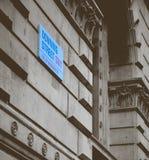 Downing- Streetzeichen Stockfotos