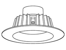 Downlight enfoncé LED images libres de droits