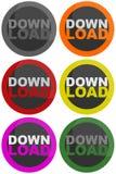 download кнопки Стоковое Фото