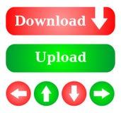 download кнопок Стоковые Фотографии RF
