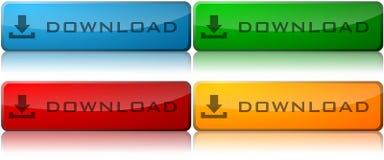 download кнопок Стоковые Изображения RF