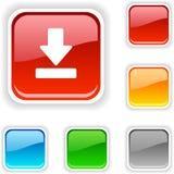 download кнопки иллюстрация вектора