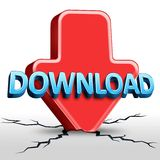 Download. Conceptual image 3D: Download design Stock Photos