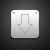 знак download Стоковое Изображение