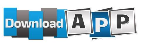 Download App Blue Grey Squares Stripes stock illustration