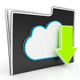 Download Arrow And Cloud File Shows Downloading. By Ftp Stock Images