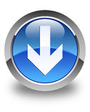 Download arrow icon glossy blue round button Royalty Free Stock Photography