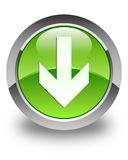 Download arrow icon glossy green round button Royalty Free Stock Photography