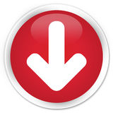 Download arrow icon premium red round button Royalty Free Stock Image