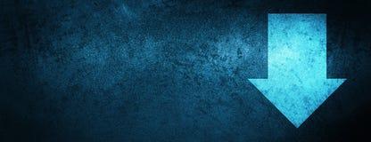 Download arrow icon special blue banner background. Download arrow icon on special blue banner background abstract illustration stock illustration