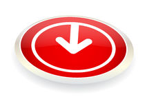 Download button. Isolated on white Stock Photography