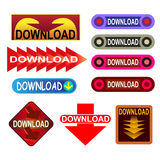 Download button Royalty Free Stock Images