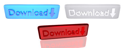 Download button Stock Image
