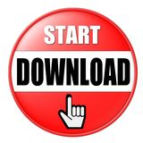 Download button. A button to start a download Royalty Free Stock Photo