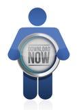 Download button illustration design Stock Photos