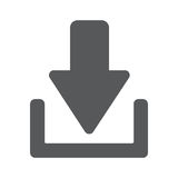 Download button. Load. Download Upload flat icon. Load symbol vector illustration eps 10 Royalty Free Stock Image