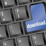 Download Button On Computer Keyboard Stock Image