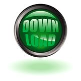 Download button round Stock Image