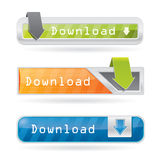 Download button set Royalty Free Stock Photography