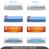 Download Button Set Stock Photo