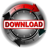 Download Button. Button to download the file Royalty Free Stock Photography