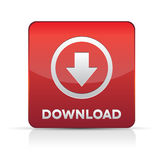 Download button web design element - red Stock Photography